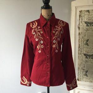 Scully Lady Longbranch Western Shirt Sz M